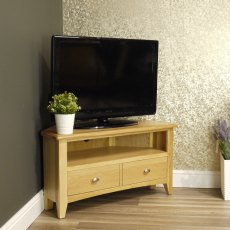 Oak City - Oakland Modern Oak Corner TV Unit