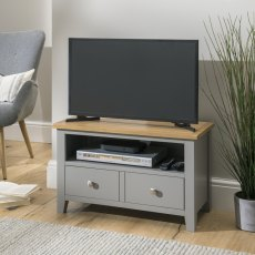 Oak City - Nebraska Oak 80cm Small TV Unit For Screens Up To 38"