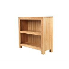 Oak City - Cuba Chunky Oak Low Bookcase