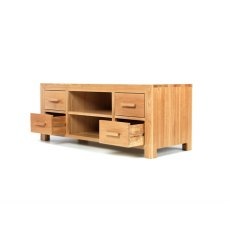 Oak City - Cuba Chunky Oak 125cm Large TV Unit