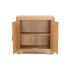 Oak City - Cuba Chunky Oak Storage Cabinet