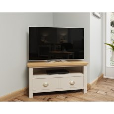 Oak City - Dorset Oak 90cm Corner TV Unit For Screens Up To 42"