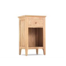 Oak City - Worsley 1 Drawer Small Bedside Table