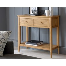 Oak City - Worsley 2 Drawer Small Telephone Console Table