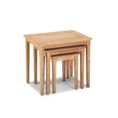 Oak City - Worsley Oak Nest of 3 Tables
