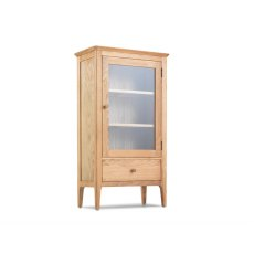 Oak City - Worsley Oak Glazed Bookcase with Drawer