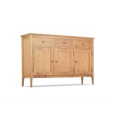 Oak City - Worsley Oak Large 3 Door 3 Drawer Sideboard