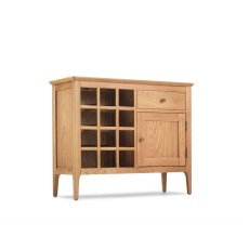 Oak City - Worsley Oak Mini Wine Rack Sideboard