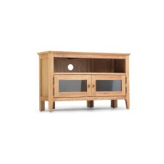 Oak City - Worsley Oak 95cm Corner TV Stand with Doors