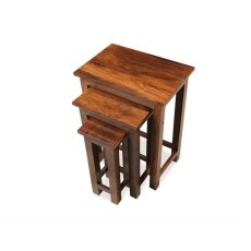 Oak City - Maharajah Indian Rosewood Thacket Tall Nest of 3 Tables