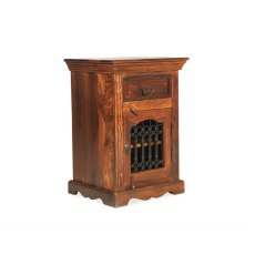 Oak City - Maharajah Indian Rosewood Bedside Cabinet - LEFT