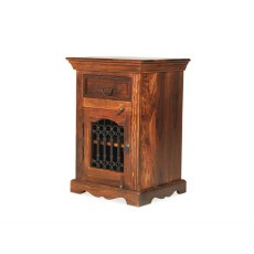 Oak City - Maharajah Indian Rosewood Bedside Cabinet - RIGHT