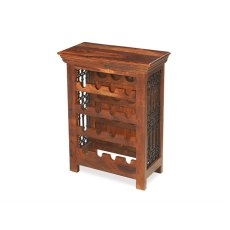 Oak City - Maharajah Indian Rosewood Wine Bottle Rack