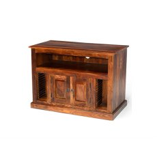 Oak City - Maharajah Indian Rosewood Small Chunky TV Stand