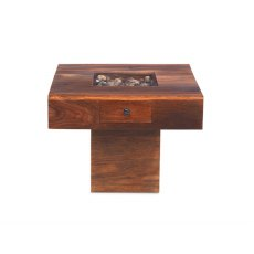 Oak City - Maharajah Indian Rosewood Pebble Coffee Table - 60 x 60