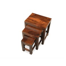 Oak City - Maharajah Indian Rosewood Thackett Small Nest of 3 Tables