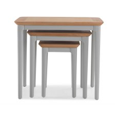 Oak City - Marlow Painted Nest Of 3 Tables
