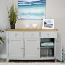 Oak City - Sydney Painted French Grey Large Sideboard