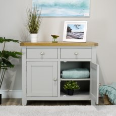 Oak City - Sydney Painted French Grey Small Sideboard