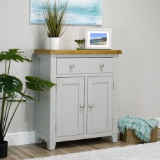 Oak City - Sydney Painted French Grey Mini Sideboard