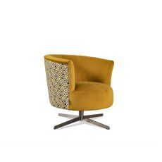 Orla Kiely Lily Swivel Chair Print Combo