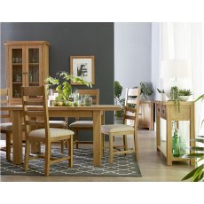 Rustic 1.7m Butterfly Extending Dining Table Set