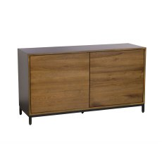New York Solid Smoked Oak Narrow Sideboard