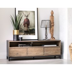 New York Solid Smoked Oak TV Unit