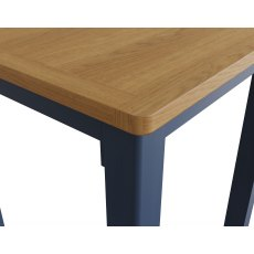 Oak City - Dorset Painted Blue Oak Fixed Top Dining Table