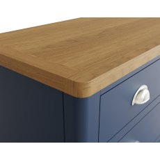Oak City - Dorset Painted Blue Oak 2 Over 3 Chest of Drawers