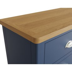Oak City - Dorset Painted Blue Oak 6 Drawer Chest of Drawers