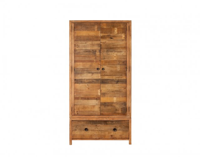 Baker Furniture Grant Reclaimed Wood Double Wardrobe