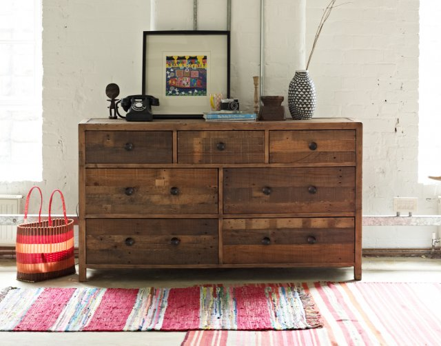Grant Reclaimed Wood 7 Drawer Chest Of Drawers Brooklyn Furniture World