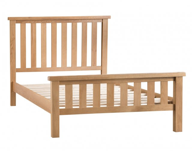 Kettle Interiors Light Rustic Oak Bed Frame