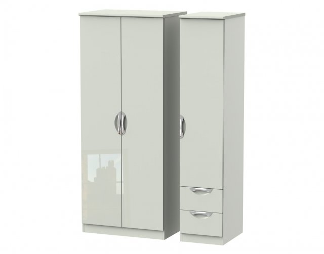 Welcome Furniture Cordoba Triple Plain + Drawer Wardrobe