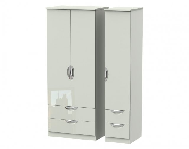 Welcome Furniture Cordoba Triple 2 Drawer + Drawer Wardrobe