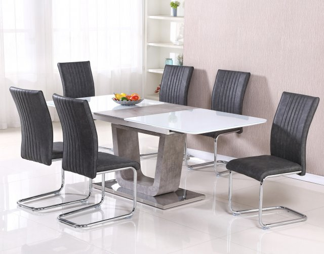 Casablanca Extending Dining Table Set And 6 Chairs Furniture World