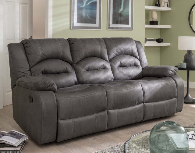 Sofa Source Ireland Nova 3 Seater Recliner Sofa Double in Grey