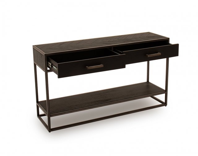 Vida Living Vermont Console Table in Dark Brown