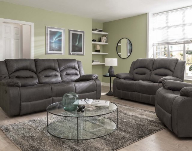 Sofa Source Ireland Nova 3 Seater & 2 Seater Reclining Sofa Package in Grey