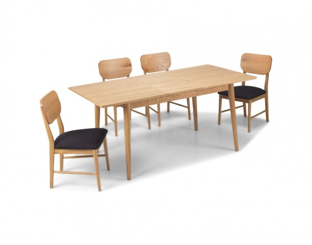Heritage Henley Solid Oak Extending Dining Table Set & 4 Dining Chairs