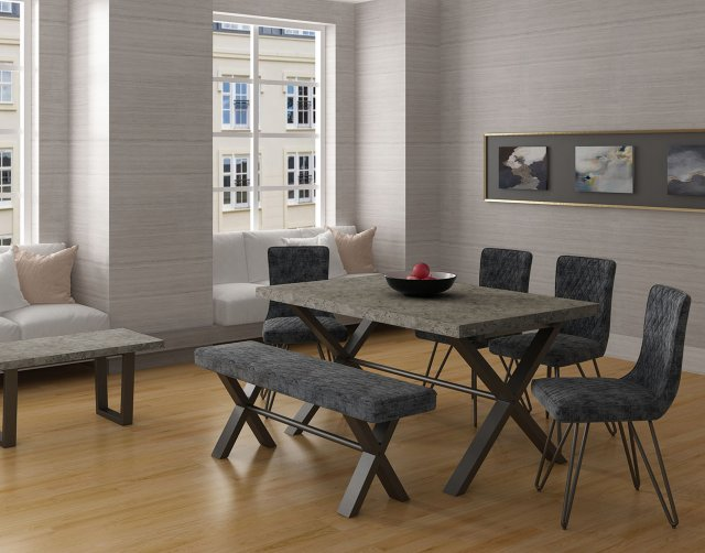 Classic Furniture Forge Stone Effect 150 Dining Set
