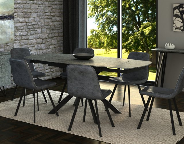 Titan Motion Dining Table Set 4 Grey, Dining Room Chairs Set Of 4