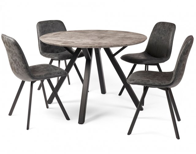 Titan Compact Round Dining Table Set, Round Dining Table Uk