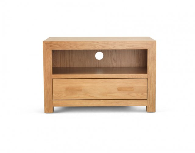 Heritage Oak City - Cuba Chunky Oak 85cm Small TV Unit