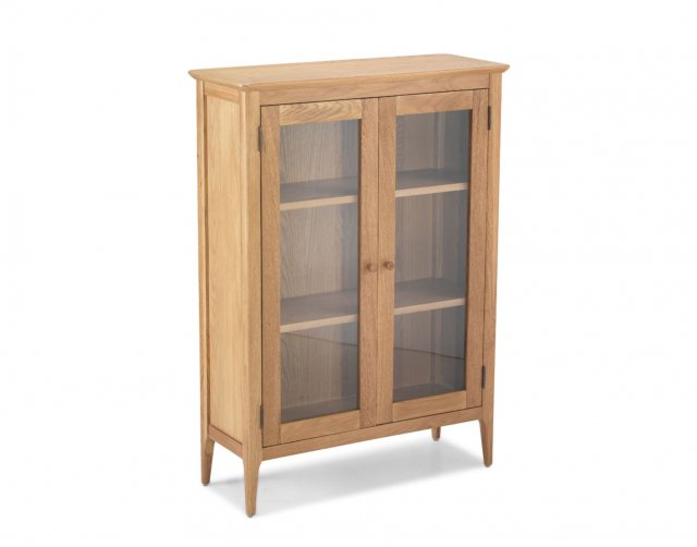 Heritage Oak City - Worsley Oak Glazed 2 Door Cabinet