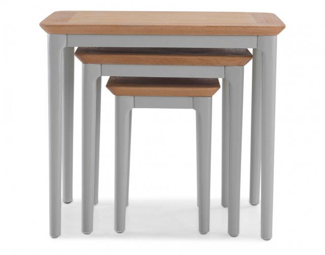 Heritage Oak City - Marlow Painted Nest Of 3 Tables