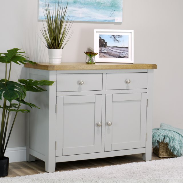 IFD Oak City - Sydney Painted French Grey Small Sideboard