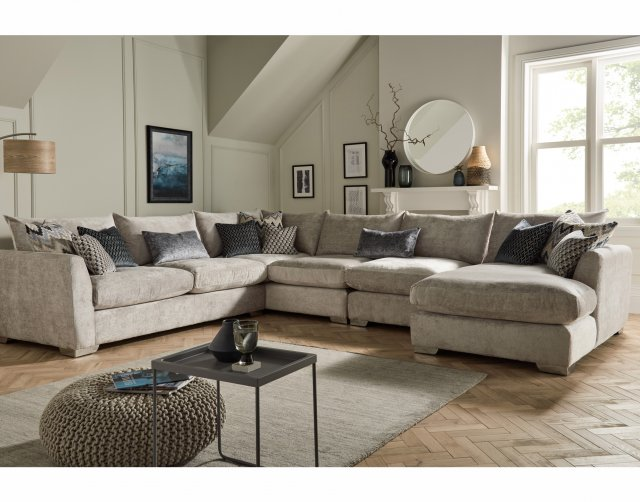 Whitemeadow Metro Large Corner Sofa with Chaise
