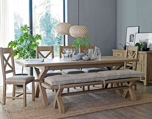 Extending Dining Table Set, Oak Dining Room Table
